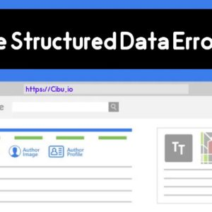 Google Structured Data Errors Fix